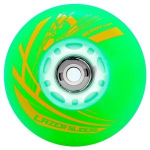 Светящиеся колеса для роликов Flying Eagle Lazer Green