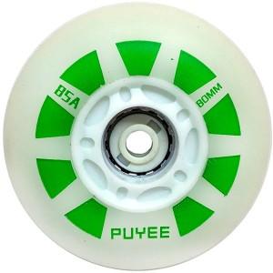 Светящиеся колеса для роликов Puyee Green