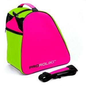 Cумка для роликов PRO-R Oxford Lime/Pink