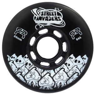 Колеса для роликов FR Street Invaders 84мм Black (8 шт)