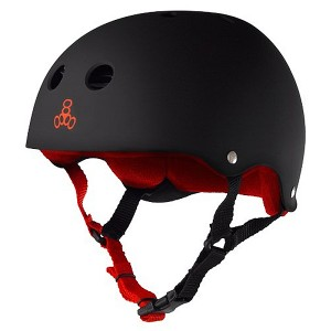 Шлем Triple Eight Brainsaver Rubber Black/Red