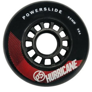 Колеса Powerslide Hurricane 80mm/86А Black/Red 6шт
